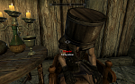 I used the bucket-on-head trick to pickpocket since my skill was low.  It didn't work though I think it only applies to stealing things that are in...